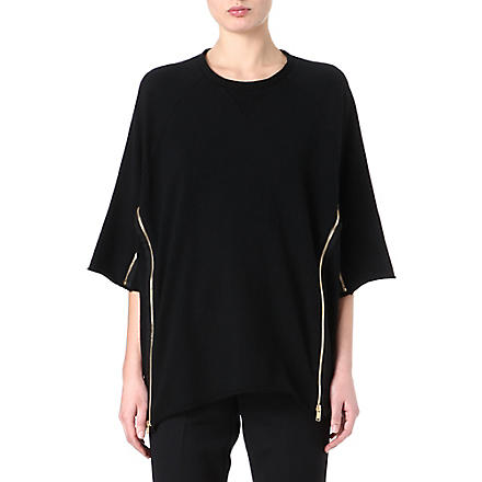 UNDERCOVER Cropped-sleeve sweatshirt (Black