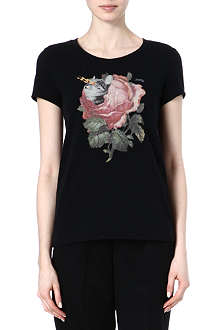 UNDERCOVER Lightening rose t-shirt