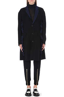 UNDERCOVER Contrast ruffle coat