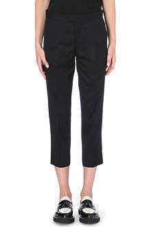 UNDERCOVER Slim-fit cropped wool trousers