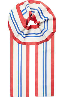 UNDERCOVER Striped tricolour scarf