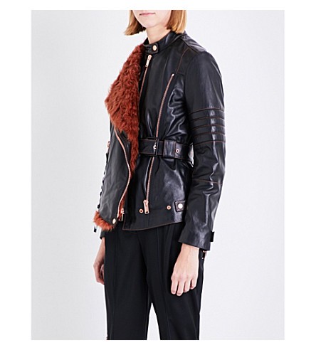 PROENZA SCHOULER Asymmetric leather biker jacket (Black