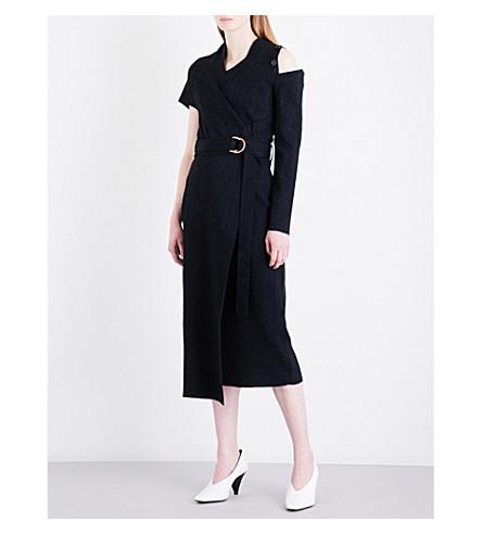 PROENZA SCHOULER Asymmetric knitted wrap dress (Black
