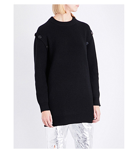 PROENZA SCHOULER Oversized wool and cashmere-blend jumper (Black