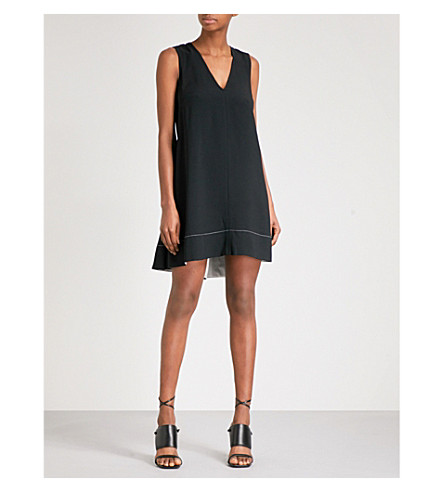 PROENZA SCHOULER Crossover strap crepe dress (Black