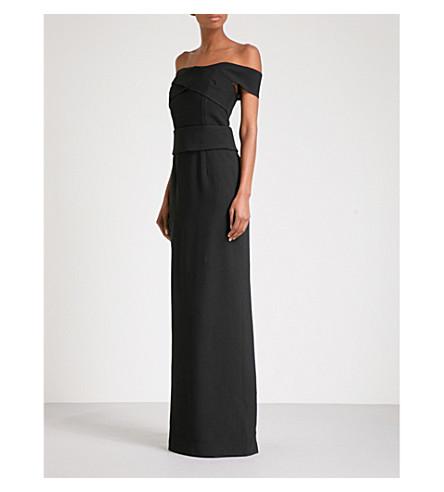 PROENZA SCHOULER Off-the-shoulder crepe column gown (Black