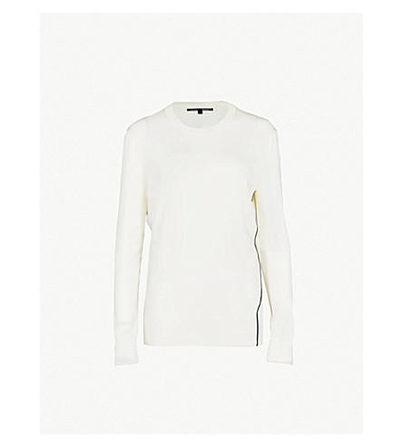 PROENZA SCHOULER Contrast-trim cotton-blend jumper (Creme