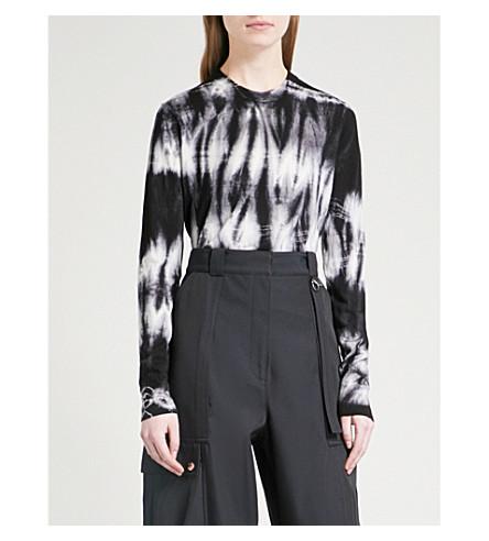 PROENZA SCHOULER Tie-dye wool jumper (Black/white