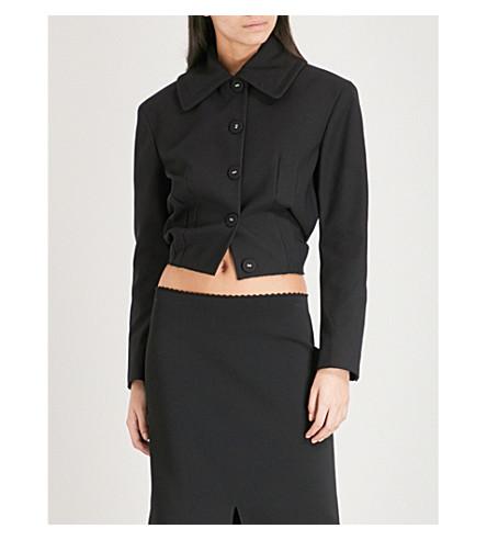 PROENZA SCHOULER Cropped cotton-blend jacket (Black