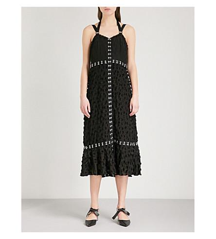PROENZA SCHOULER Hook-detail cotton and silk-blend dress (Black