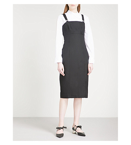 PROENZA SCHOULER Bustier strapless cotton-blend dress (Black