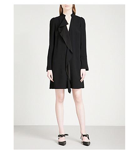 PROENZA SCHOULER Ruffled-trim crepe tunic dress (Black