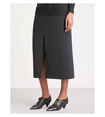 PROENZA SCHOULER Spilt knitted pencil skirt (Black