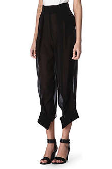THIERRY MUGLER Semi-sheer trousers