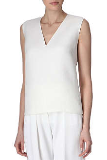 THIERRY MUGLER Silk-twill top