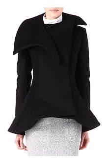 THIERRY MUGLER Flared-hem double-lapel coat