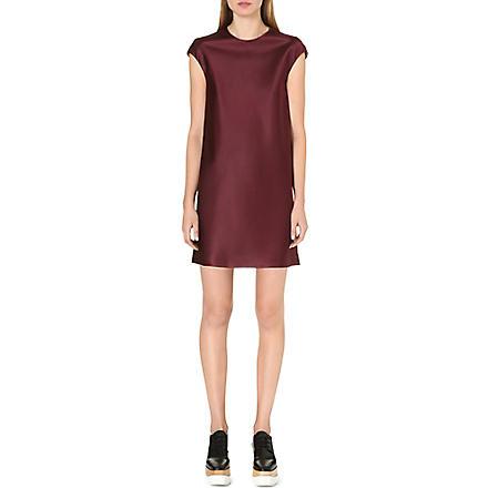 THE ROW Cap-sleeve silk dress (Mulberry