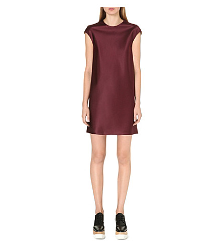THE ROW Cap-sleeve silk dress (Mulberry