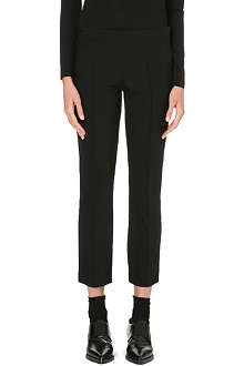 THE ROW Slim-fit tapered cotton-blend trousers