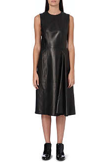 THE ROW Sleeveless leather dress