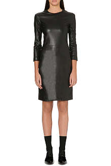 THE ROW Leather panel dress