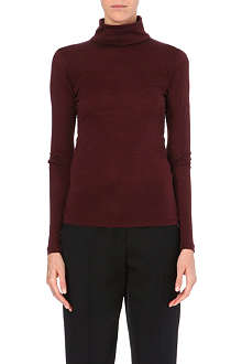 YANG LI Turtleneck wool-blend top