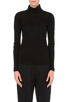YANG LI Semi-sheer wool-blend top