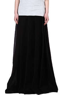 YANG LI Pleated silk-blend skirt