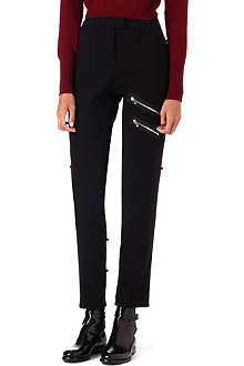 YANG LI Zip-detail wool trousers