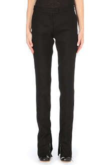 YANG LI Ankle-zip slim-fit wool trousers