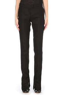 YANG LI Ankle-zip slim-fit wool trousers