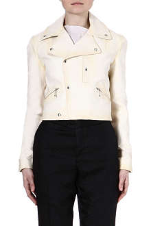YANG LI Leather biker jacket