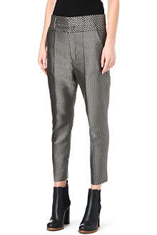 HAIDER ACKERMANN Drop-crotch jacquard zigzag trousers