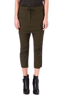 HAIDER ACKERMANN Cropped wool-jersey jogging bottoms