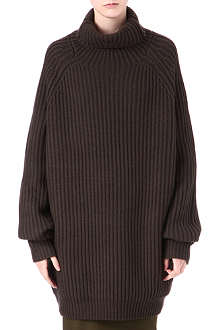 HAIDER ACKERMANN Ribbed turtleneck dress