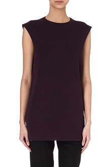 HAIDER ACKERMANN Silk and wool-blend top