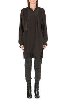 HAIDER ACKERMANN Satin-panel silk tunic