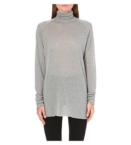 HAIDER ACKERMANN Turtleneck knitted jumper (Grey