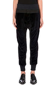 HAIDER ACKERMANN Velvet jogging bottoms