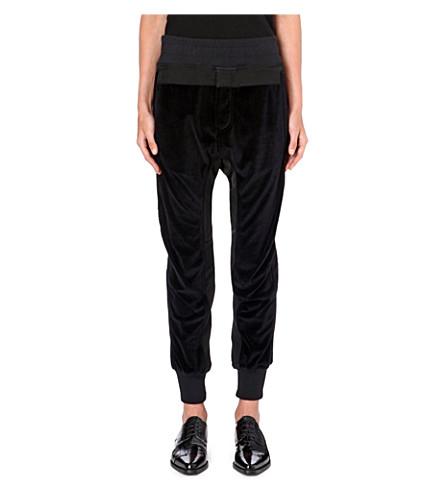 HAIDER ACKERMANN Velvet jogging bottoms (Black