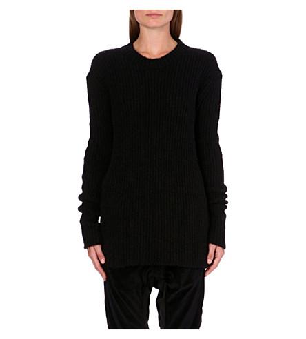 HAIDER ACKERMANN Mohair knitted jumper (Black