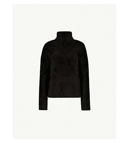 HAIDER ACKERMANN Turtleneck ribbed velvet jumper (Black