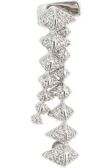 EDDIE BORGO Crystal encrusted zip ear cuff