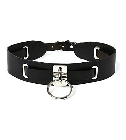 ZANA BAYNE Leather choker belt (Blk