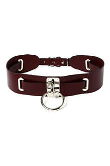 ZANA BAYNE Leather choker belt