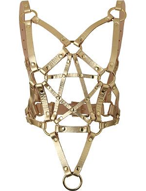 ZANA BAYNE Pentagram leather harness