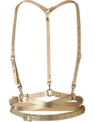 ZANA BAYNE Snake leather harness