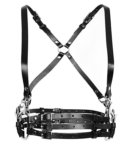 ZANA BAYNE Hester leather harness (Black/silver