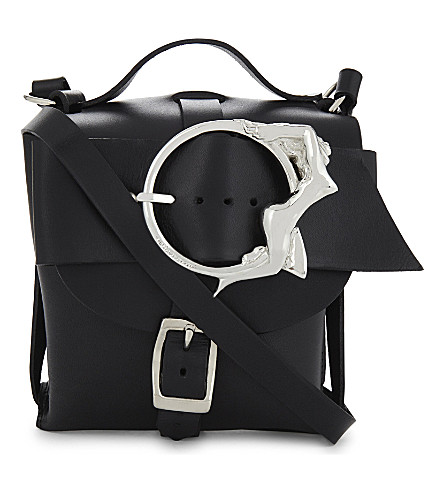 ZANA BAYNE Mini Signature cross-body bag (Black/silver