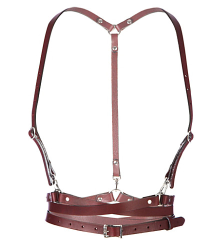ZANA BAYNE Snake leather harness (Oxblood